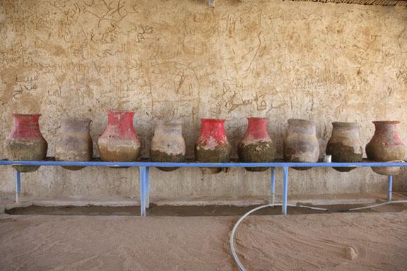 roadside rest stop in the Sudanese desert