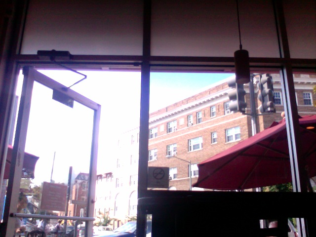 view from Coffee and Crumbs