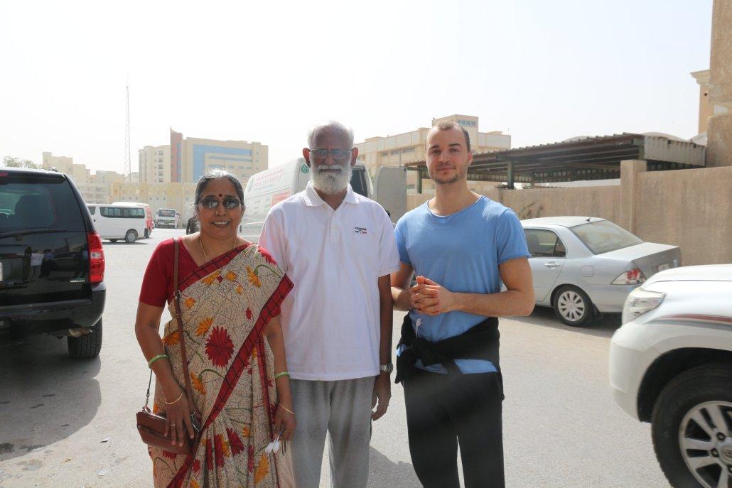 Jaya Bala og Marcus i Qatar i januar