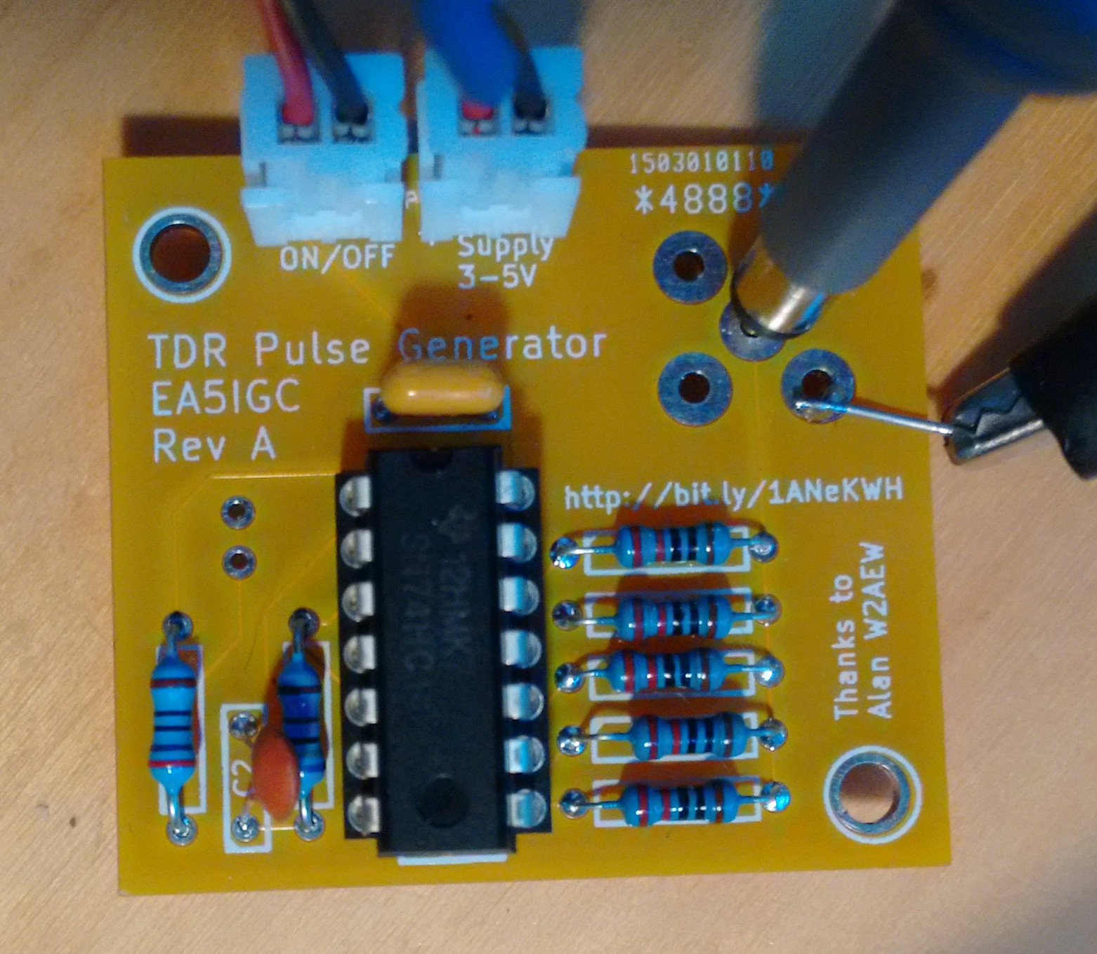 Tdr Pulse Generator For Testing Coax Coaxial Cable Tester Circuit Electronic Projects Circuits Tdrbuildstep1