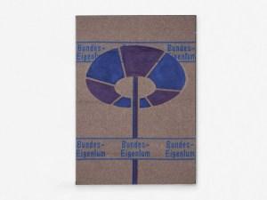 Marcus Kleinfeld, BUNDESEIGENTUM II, 2011 Acrylic on military wool blanket 170 x 140 cm