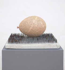 Marcus Kleinfeld, FORCES, 2011 Plaster, nails, newspaper 25 x 43 x 34 (Sculptures)