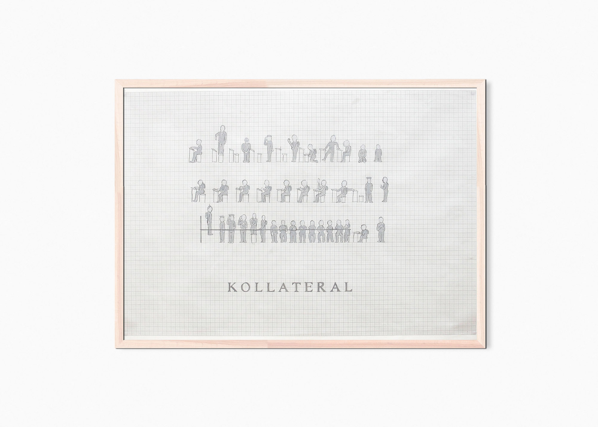 Marcus Kleinfeld, KOLLATERAL, 2011 Acrylic, pencil on graph paper 70 x 100 cm