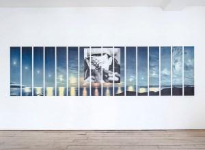 Marcus Kleinfeld, MYTH, 2013 Inkjet print on 16 panels 85 x 380 cm