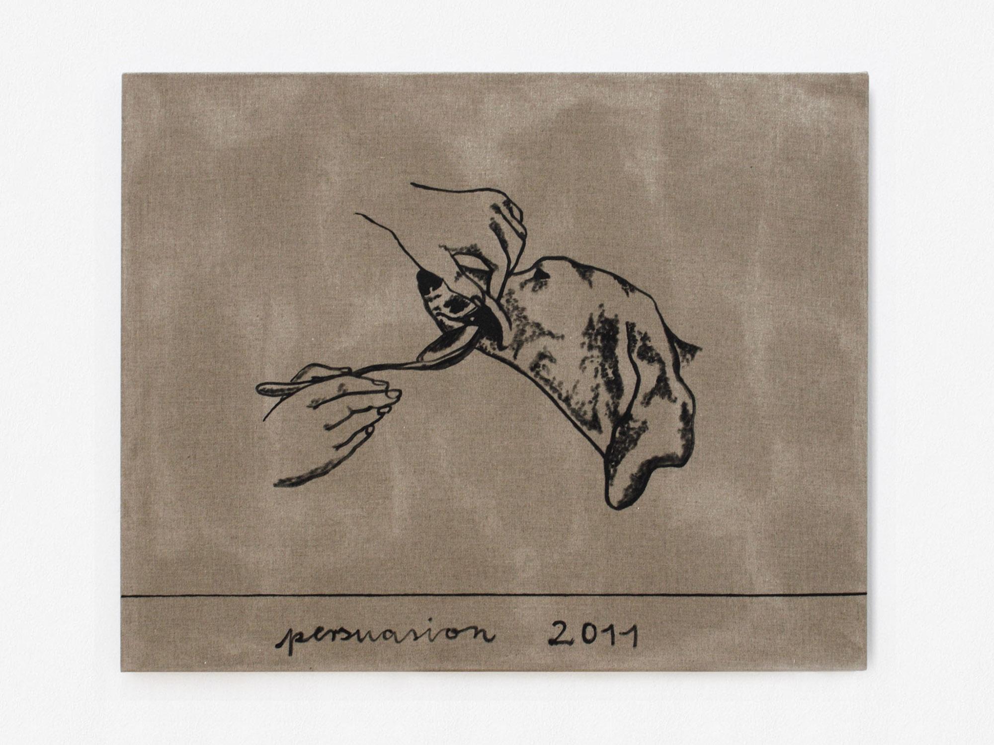 Marcus Kleinfeld, PERSUASION, 2011 Oil on linen 80 x 110 cm