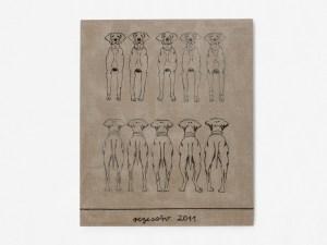 Marcus Kleinfeld, REZESSIV, 2011 Oil on linen 120 x 110 cm