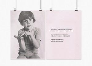 Text Works: Marcus Kleinfeld, SYNDROME REALITY (I-IV), 2009 8 inkjet prints on sugar paper 59,4 x 84 cm per set