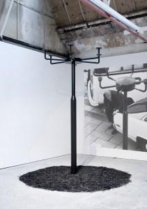 Marcus Kleinfeld, TOTEM, 2010 Steel, paraffin, mulch 250 x 100 x 100 cm