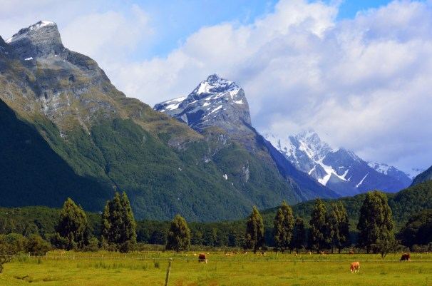 Landscape of Glenorchy New Zealand NZ NZL