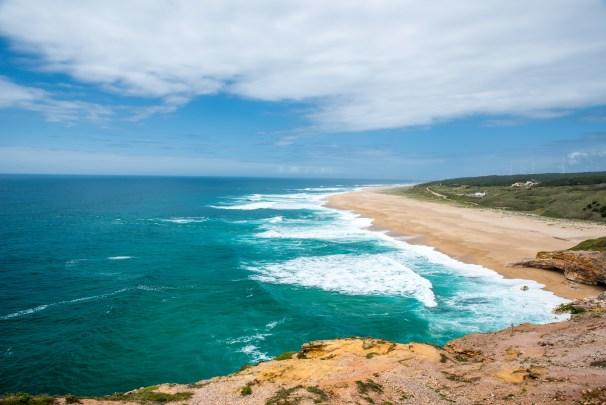 Beautiful and wild coast of Nazare, Portugal