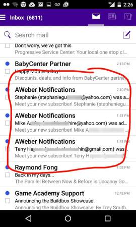 automated email follow