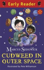 Cover of Cudweed in Outer Space showing Cudweed flying a space ship.