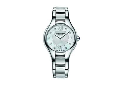 Raymond Weil Noemia Quartz Hvit Perlemor Diamant Skive Stål 32 MM 5132-ST-00985