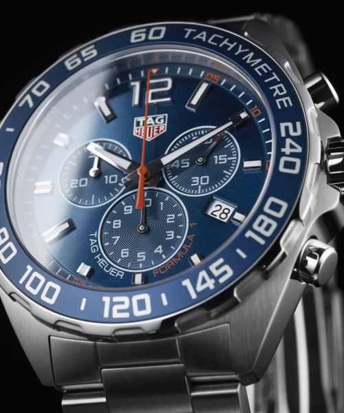 Tag Heuer Formula 1 Chronograph Quartz Blå Skive 43 MM - CAZ1014.BA0842 1