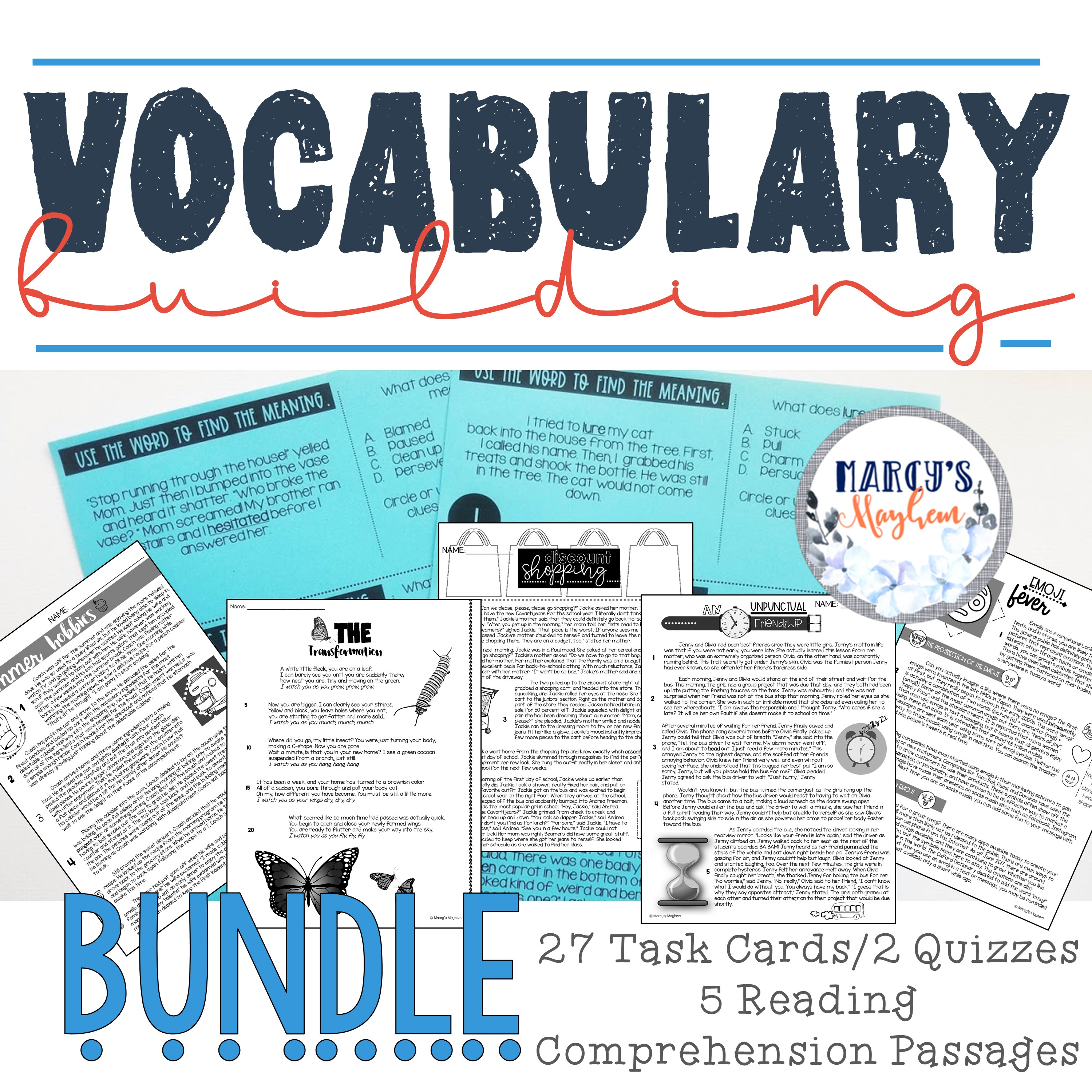 - Vocabulary Building Activities Using Reading Comprehension & Task