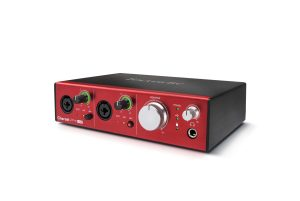 focusrite clarett 2pre usb hero audio interface - left