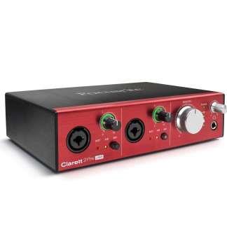 focusrite clarett 2pre usb hero audio interface - right
