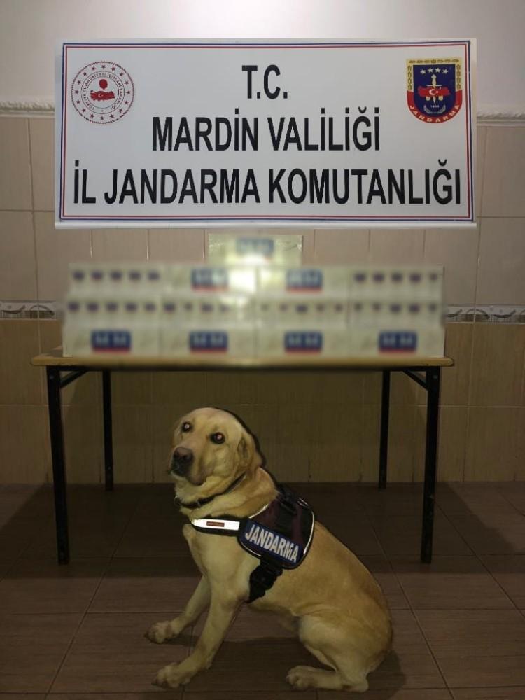 Mardin'de çuval içerisine gizlenmiş kaçak sigara ele geçirildi