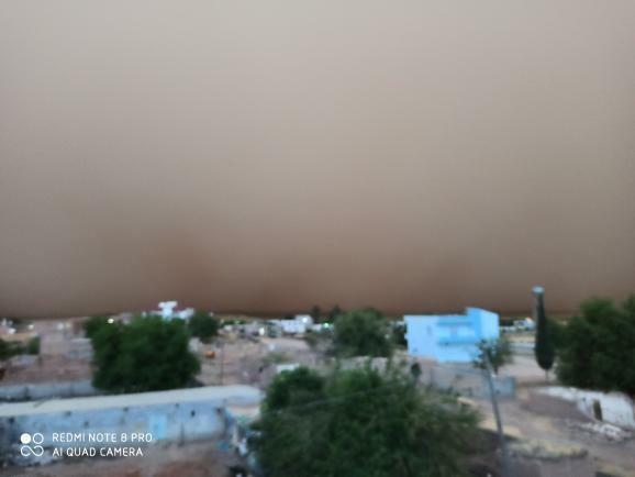 Mardin'de toz fırtınası her yeri kapladı