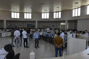 Kızıltepe Hububat Ticaret Merkezinde çalışanlar korona virüs aşısı oldu