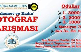 Büro Memur-Sen'den ödüllü fotoğraf yarışması