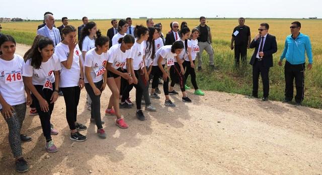 Kızıltepe'de bisiklet ve koşu yarışı