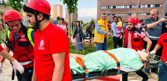 Mardin Devlet Hastanesi'nde yangın tatbikatı