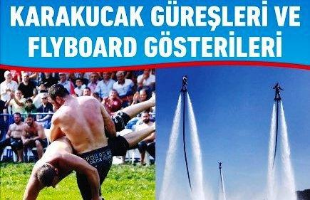 Nusaybin'de Karakucak Güreşleri ve Flyboard gösterisi hazırlığı