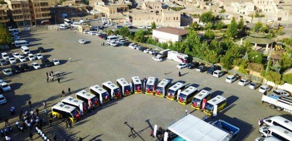 Midyat'ta toplu ulaşım araçları yenilendi