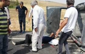 Araç şarampole  devrildi: 6 yaralı