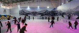 Çocuklardan buz pistine büyük ilgi