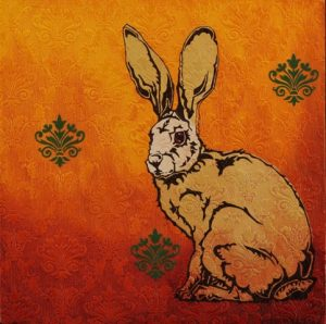 Yvette Buigues sitting-hare