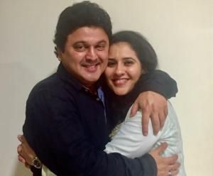 comedian with wife