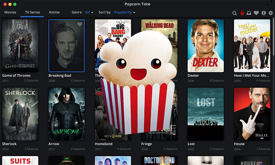 How to watch Movies and TV Series online for free [Popcorn Time]