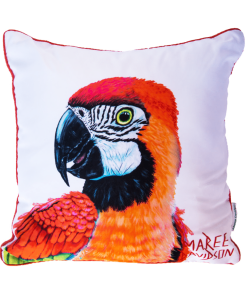 RED MACAW - CUSHION COVER - MAREE DAVIDSON ART