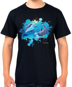 Two Dolphins-t shirt-maree davidson art