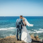 Mariage Réunion Ma Régisseuse wedding planner mer mariés robe voile