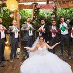 mariage, robe, super héros,