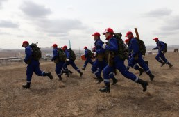 Disaster Prevention drill, community disaster preparedness activities, Darkhan City, Mongolia