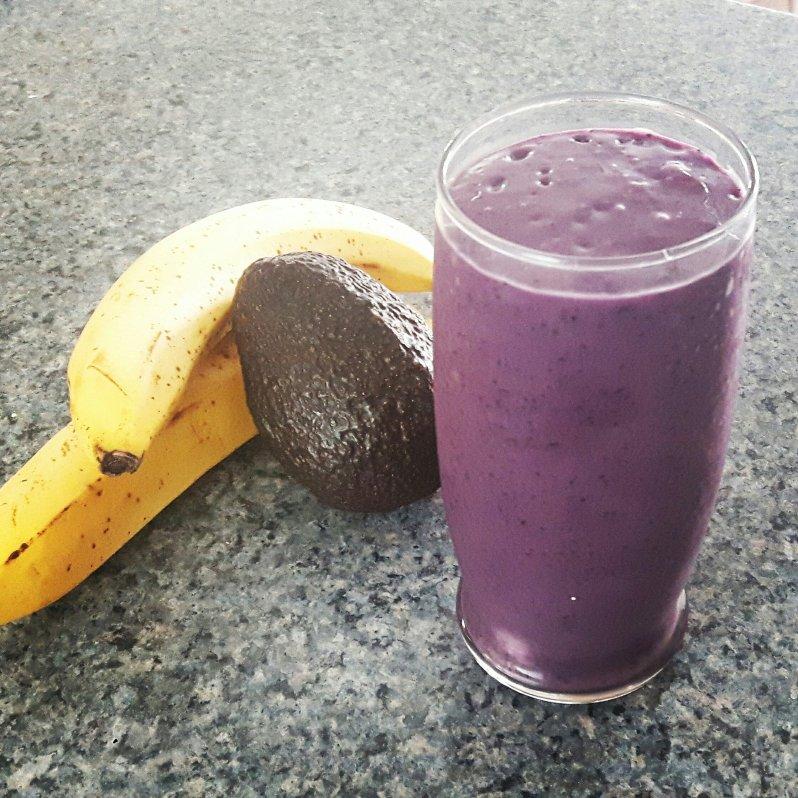workout smoothie protein avocado banana
