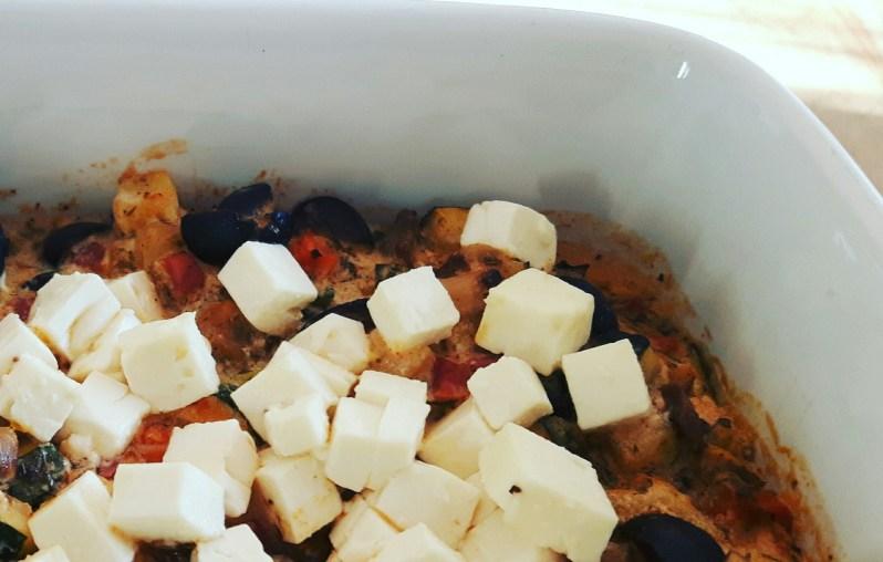 Greek feta casserole