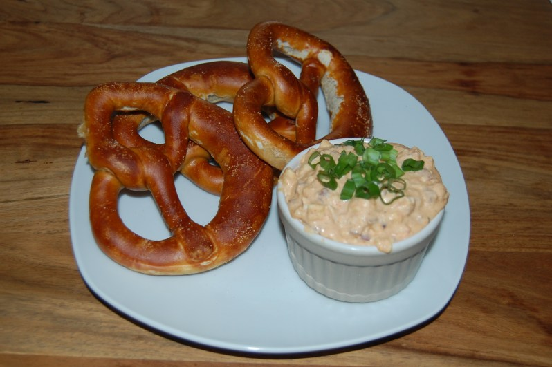 Obazda cheese spread with pretzels recipe German cooking