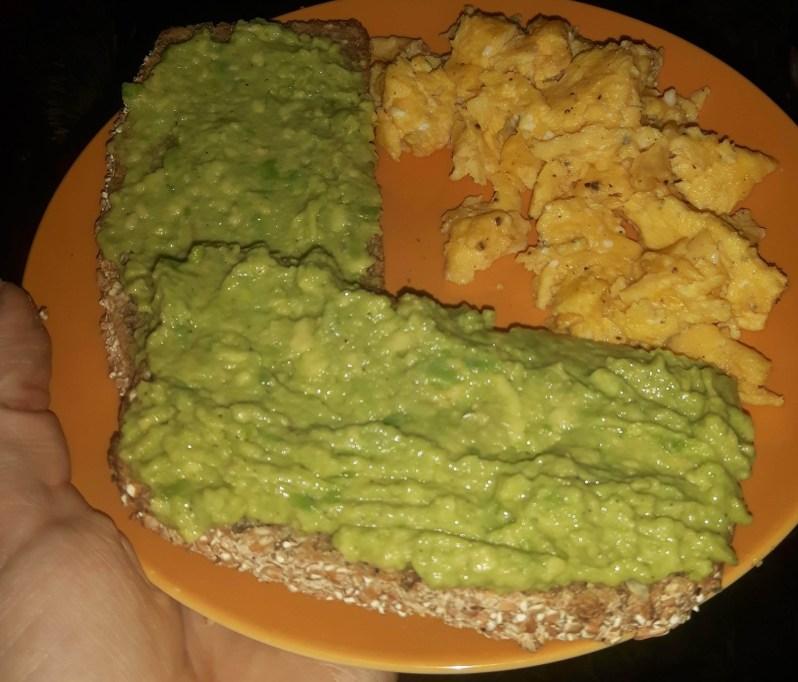 Crushed avocado bread recipe