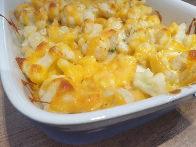 cauliflower and gnocchi casserole