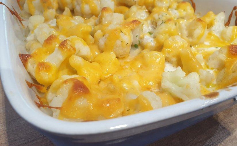 Creamy cauliflower and gnocchi casserole
