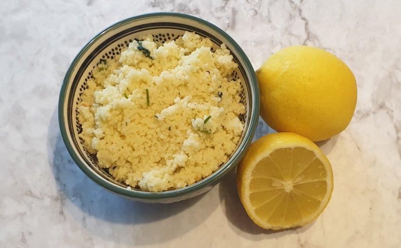 Light lemon couscous with cilantro