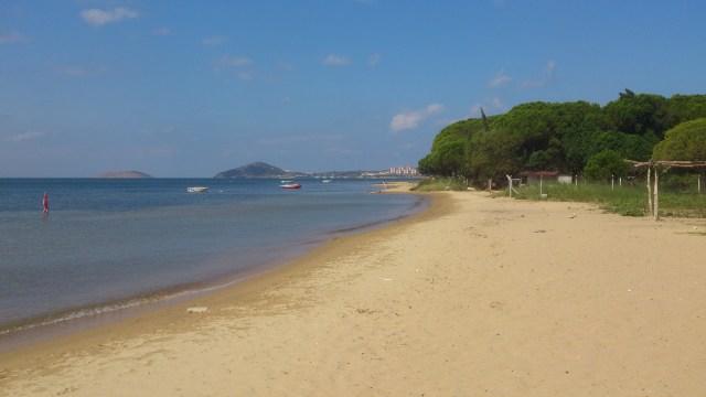 Prywatna plaża nieopodal Erdek