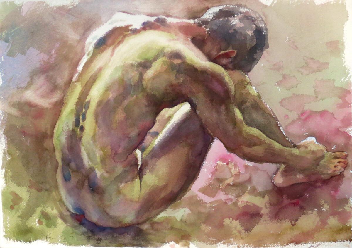 Man in Nude No.2, 57X76 cm