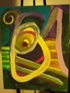 Grasshopper, acrylic, board