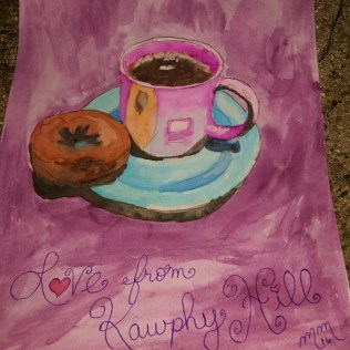 Kawphy Hill Breakfast, watercolor, paper SOLD